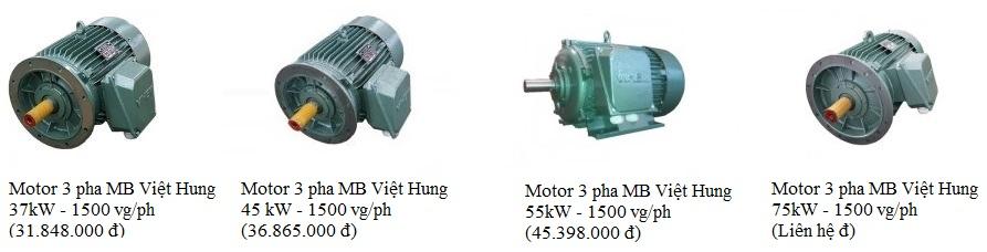 Giá Motor 3 pha mặt bích Việt Hung 37kW- 45 kW - 55 kW - 75 kW ( 1500vg/ph )