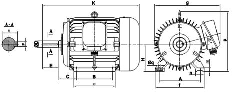 Động cơ điện 11kW tốc độ 2940 r/min 2 cực